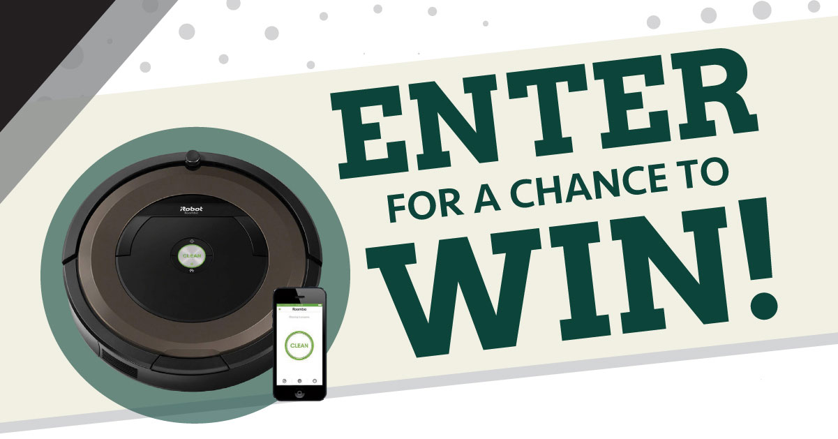 Enter for a chance to win an iBot Roomba