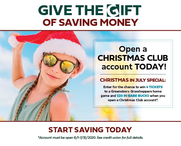Open Your Christmas Club Account Today