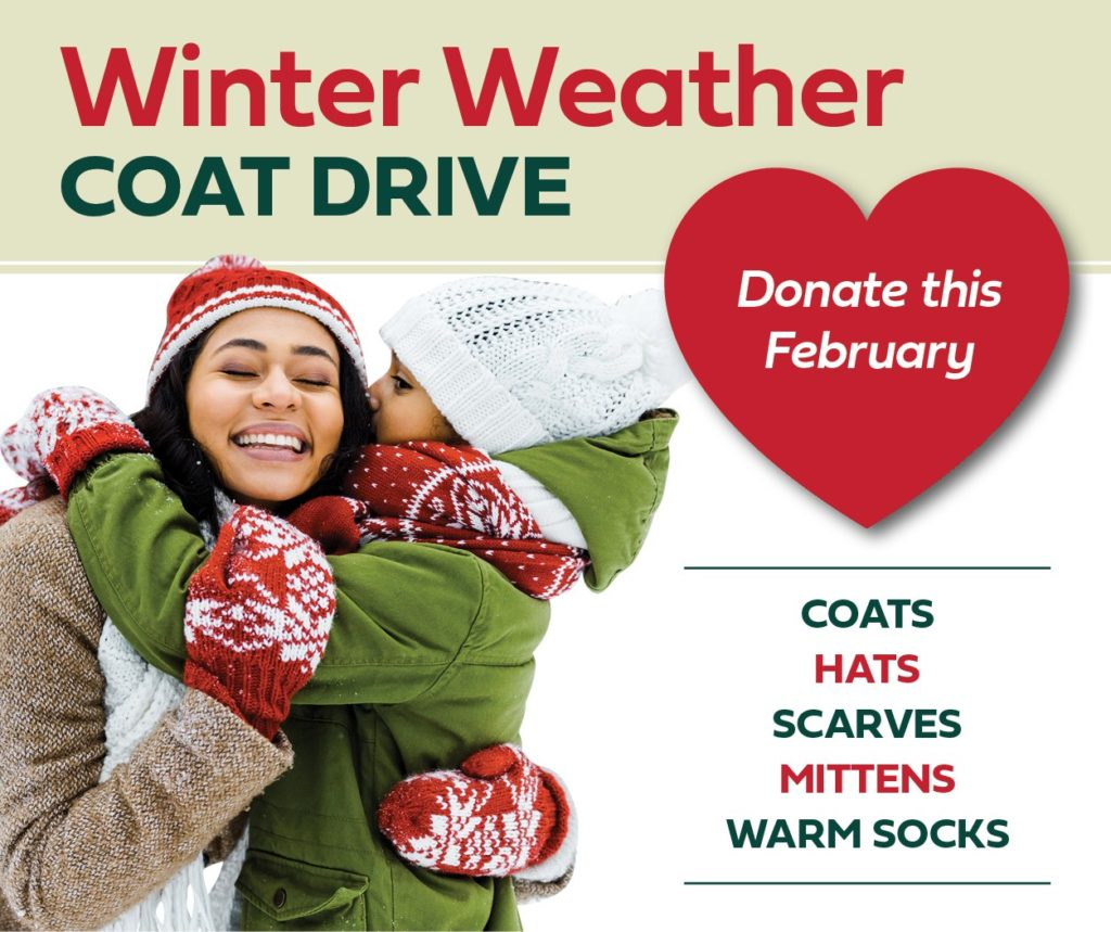 Winter Weather Coat Drive! Drop off coats at any GMFCU location.