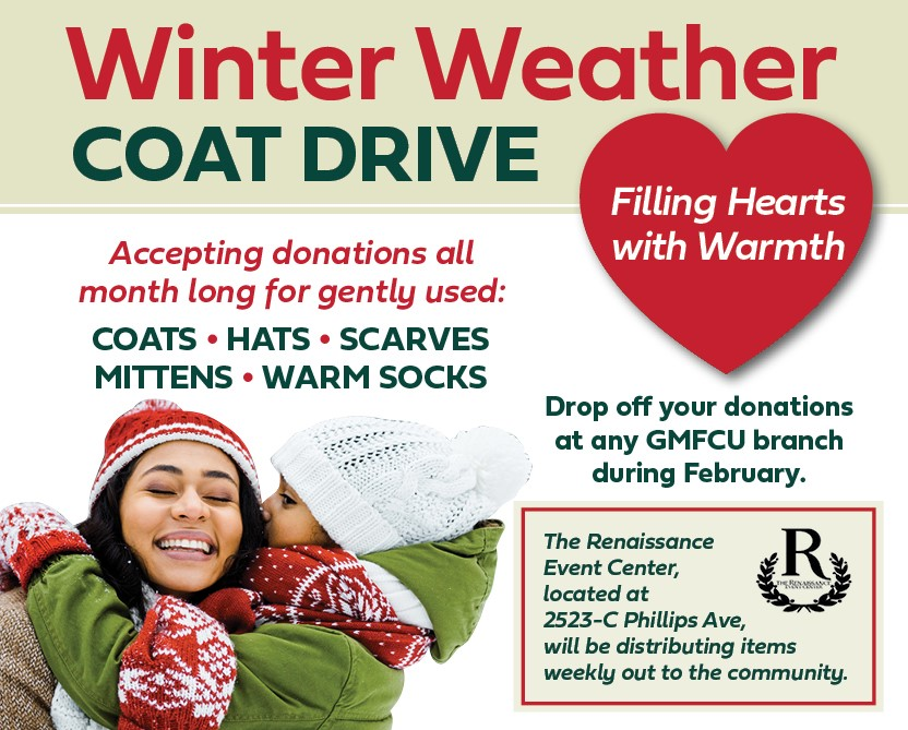 Winter Weather Coat Drive at GMFCU