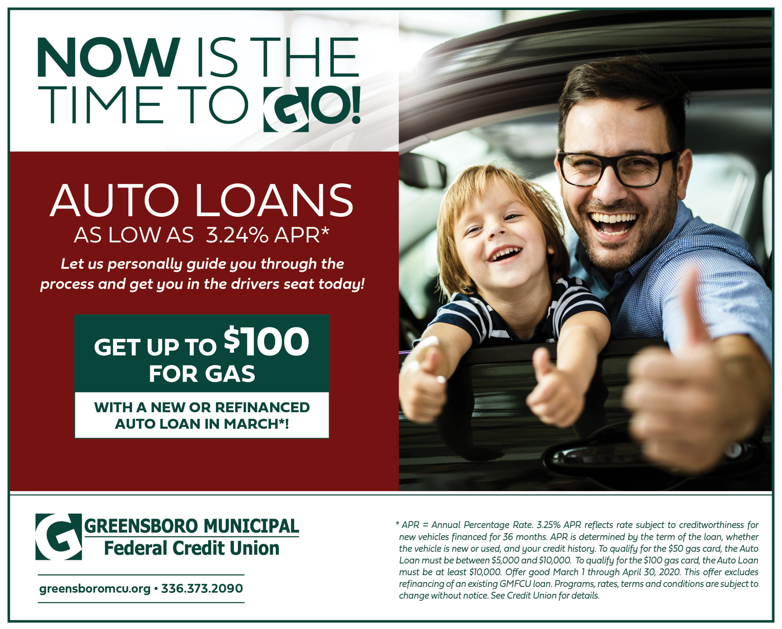 Now is the time to GO! Great rates on Auto Loans!