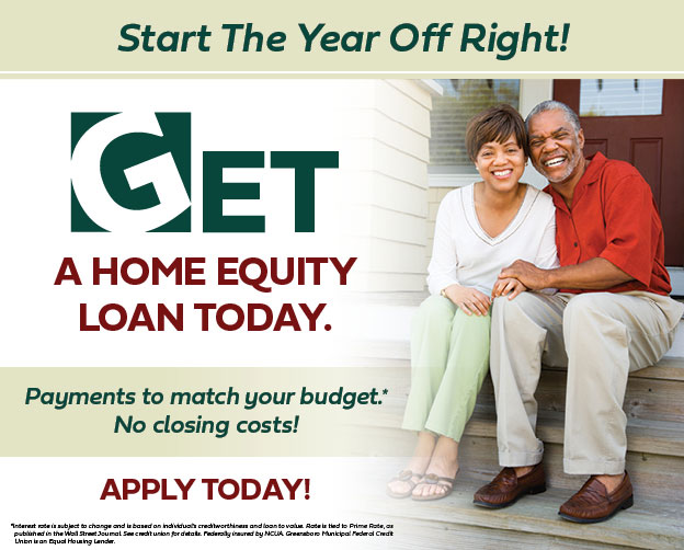 Start the year off right with a Home Equity Loan!