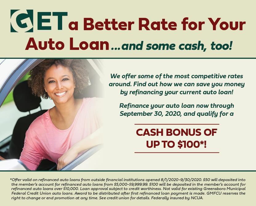 Get a great rate when you refinance with GMFCU