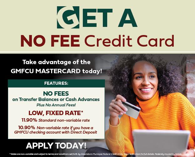 Get a No Fee GMFCU Mastercard!
